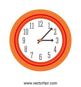 Traditional clock icon. Time design. vector graphic