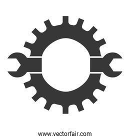 Wrench icon. Tool design. Vector graphic