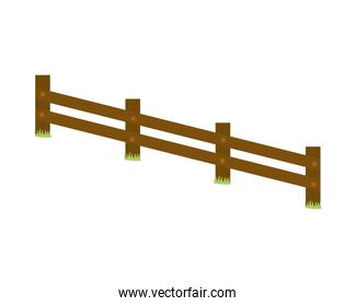 Fence icon. Barrier design. Vector graphic