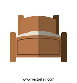 bed icon. resting and sleep design. Vector graphic