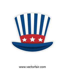 Striped hat icon. Toy design. Vector graphic