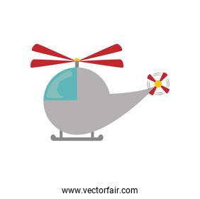 Helicopter icon. Toy design. Vector graphic