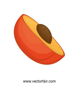 peach icon. Organic and Healthy food design. Vector graphic