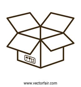 Package icon. Delivery and Shipping design. Vector graphic
