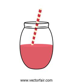 juice glass  icon. Organic and Healthy food design. Vector graph