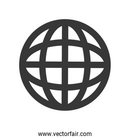 global sphere icon. Communication design. Vector graphic
