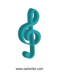 Music note icon. Sound design. Vector graphic