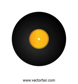 Vinyl icon. Sound design. Vector graphic
