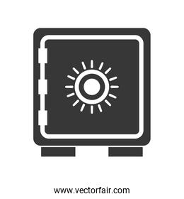 Strongbox icon. Security system design. Vector graphic