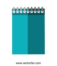 notebook design. School and education illustration. Vector graphic