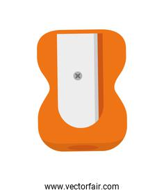 Pencil sharpener icon. School and education design. Vector graph