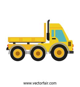 truck icon. Under construction concept. Vector graphic