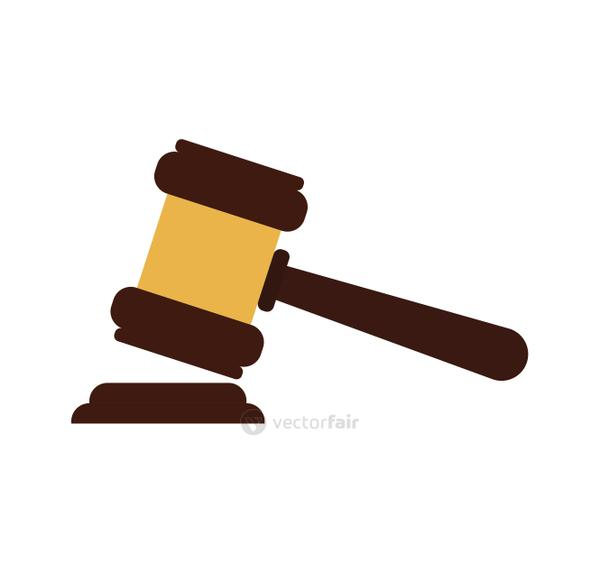 Hammer icon. Law and justice design. Vector graphic