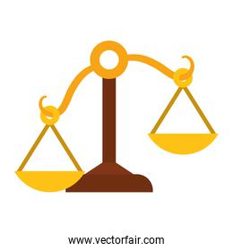 Balance icon. Law and justice design. Vector graphic