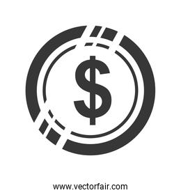 Coin icon. Money and financial item design. Vector graphic