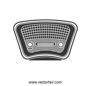 Radio icon. Retro Technology design. Vector graphic
