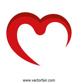 Heart icon.  Love design. Vector graphic