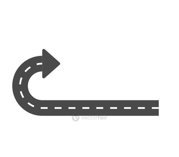 Arrow icon. Way and Direction design. Vector graphic