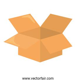 Package icon. Delivery design. Vector graphic