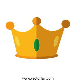 Crown icon. Royalty  design. Vector graphic