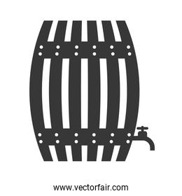 barrel icon. Beer design. Vector graphic