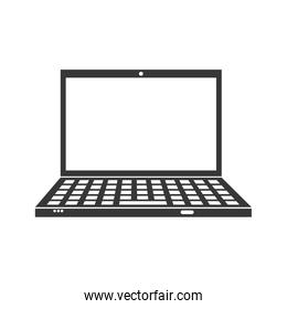 laptop icon. Gadget and technology design. Vector graphic