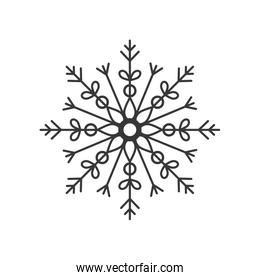 Snowflake icon. Winter design. Vector graphic