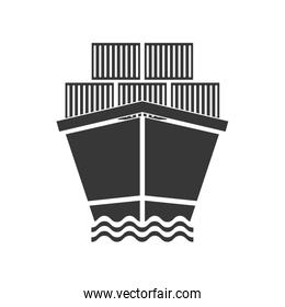 Ship icon. Delivery and Shipping. Vector graphic