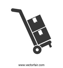 cart  Delivery and Shipping. Vector graphic