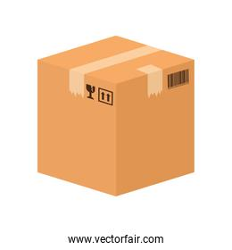 Package icon. Delivery and Shipping. Vector graphic