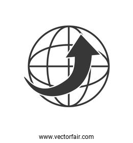 Global sphere icon. Delivery design. Vector graphic