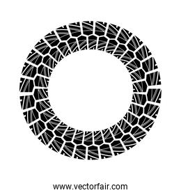 Wheel print icon. Tire design. Vector graphic