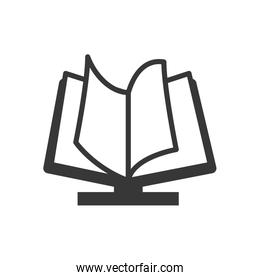 E-Book icon. Reading and learning online design. Vector graphic