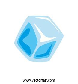 Cube icon. Ice design. Vector graphic