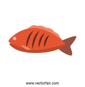 Fish icon. Healthy and Organic food. Vector graphic