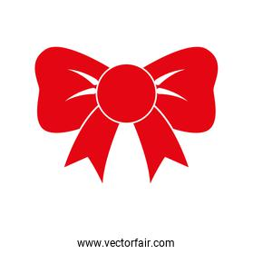 bowtie icon. Red ribbon design. Vector graphic