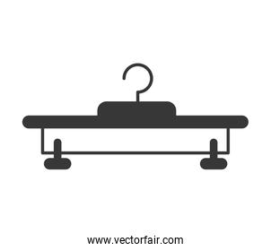 hook icon. Hanger object design. Vector graphic