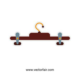 hook of wood icon. Hanger object design. Vector graphic