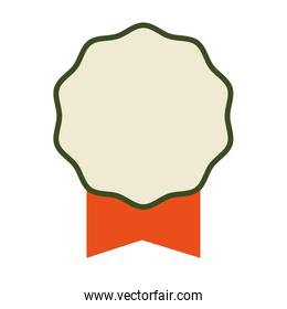 Seal stamp and ribbon icon. Label concept. Vector graphic
