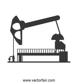 Oil pump icon. Oil industry concept. Vector graphic