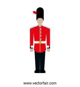 Soldier icon. United kingdom design. Vector graphic