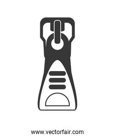 Zip icon. Cloth and tailor design. Vector graphic