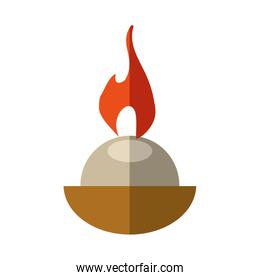 Candle icon. Light design. Vector graphic