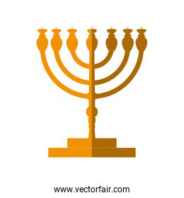 Candle icon. Israel culture design. Vector graphic