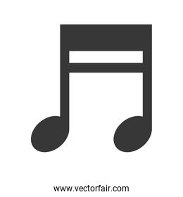 Music note icon. Music and Sound concept. Vector graphic