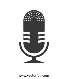 Microphone icon. Music and Sound concept. Vector graphic