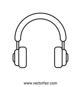 Headphones icon. Music and Sound concept. Vector graphic