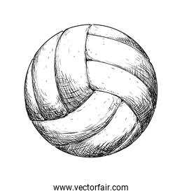 Volleyball icon. Sport concept. Vector graphic