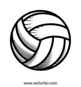 cute volleyball icon