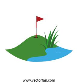 Golf and pictogram icon. Sport concept. Vector graphic